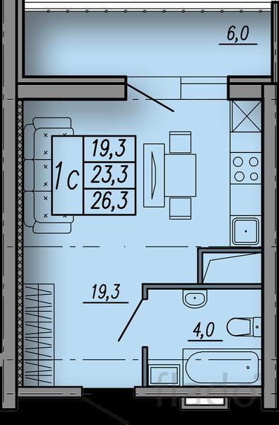 Студия, 23 м², 3/18 эт.