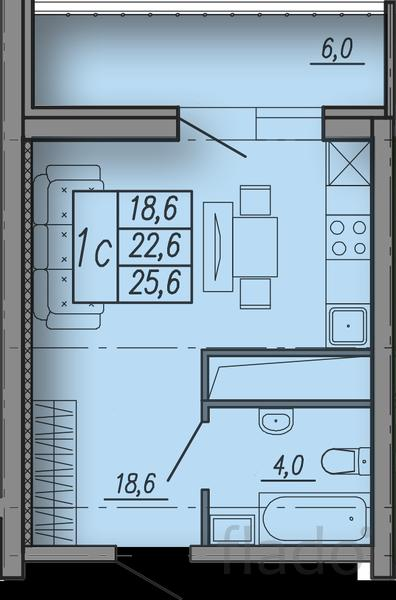 Студия, 26 м², 3/18 эт.