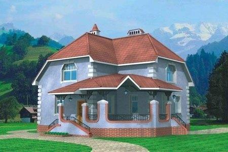 Строительство домов из кирпича, проекты - Кирпичный дом