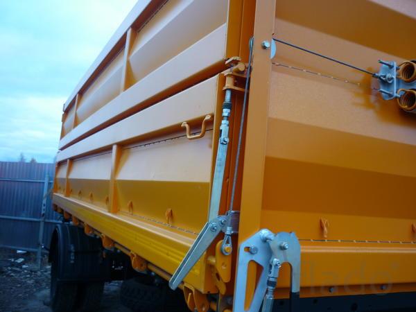самосвальный прицеп зерновоз 8551 21-02 с боковой разгрузкой
