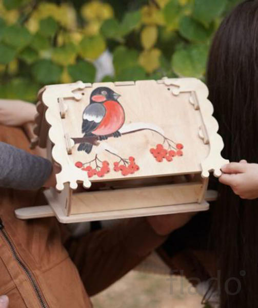 Кормушка (скворечник) для птиц с местом для декупажа