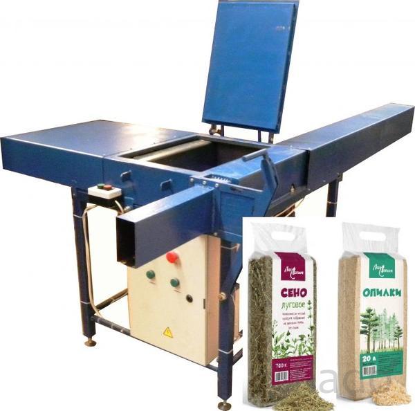 Оборудование (установка, машина) для упаковки сена и опилок