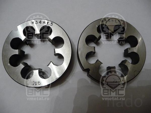 Плашка метрическая диаметр резьбы  75 шаг 1.5 ремонт