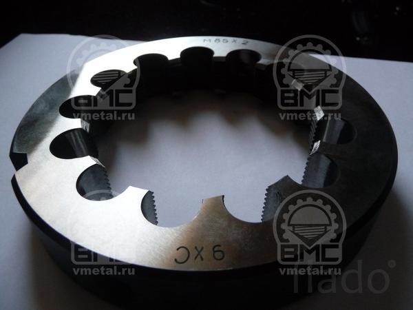Метрическая плашка 75 шаг 1,5, ремонт и восстановление резьбы на осях