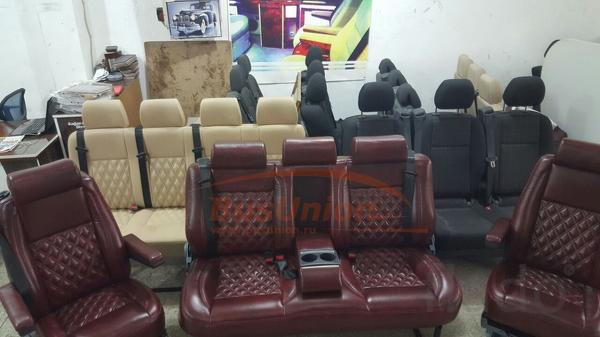 VIP Диван в микроавтобус в любой обивке. Предназначен дл