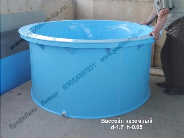 Бассейн детский d- 1,7 h-0.85  из пластика купить в  Липецке