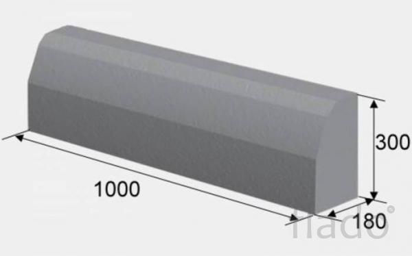 Бордюр магистральный 1000х300х180