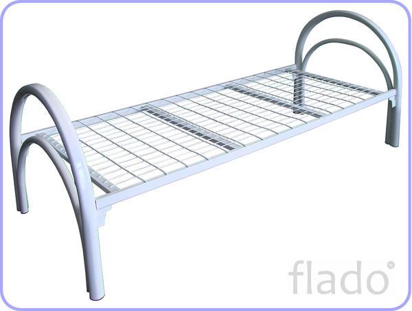 Одноярусные кровати металлические оптом, кровати для рабочих