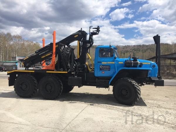 Новые лесовозы Урал 55571 с манипуляторами от завода