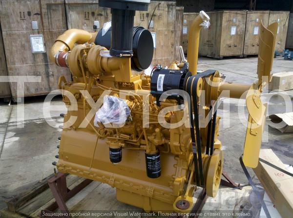 Двигатель Shanghai SC11CB184G2B1/C6121ZG57 Евро-2 на бульдозера SD16.