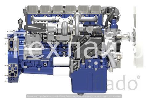 Двигатель Weichai WP13.480E40 Евро-4 на автокраны QZ160K.
