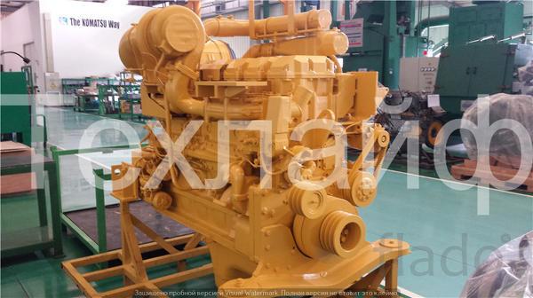 Двигатель Komatsu SAA6D170E-3 Евро-3 на колёсные бульдозера WD600-3.
