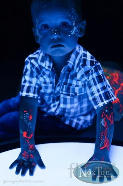 Светящаяся краска для боди - арта Нокстон