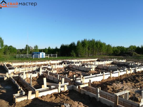Установим жб свайные фундаменты для строительства дома, коттеджа