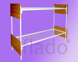 Кровати на металлокаркасе со спинками ЛДСП