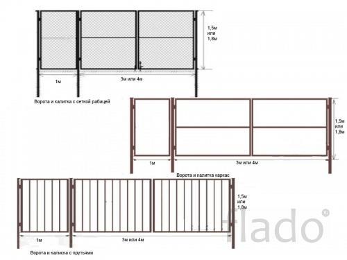 Ворота и калитки (бесплатная доставка по области)