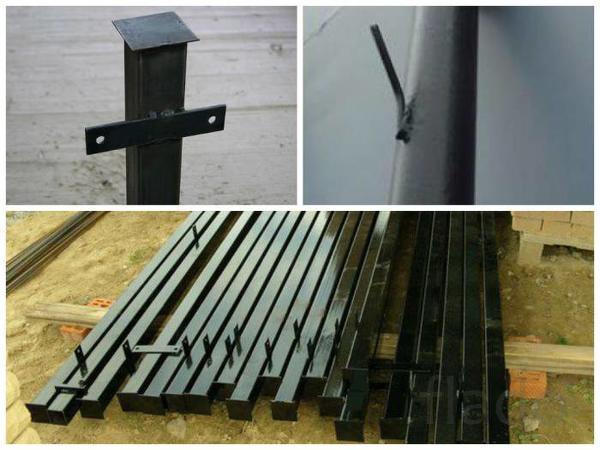 Столбы металлические(железные)  для забора  Радужный