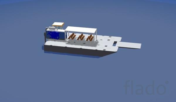 Катамаран для перевозок пассажиров и грузов до 10 т