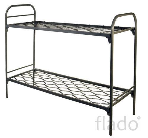 Кровати металлические с прокатной пружиной, оптом от производителя