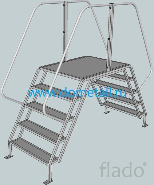 Лестница-платформа стальная