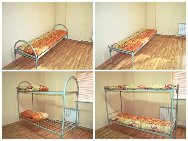 Кровати металлические для рабочих, общежитий.