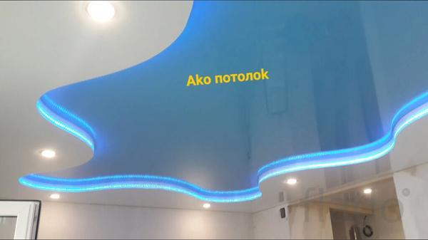 Натяжные потолки глянцевые с установкой в Омске