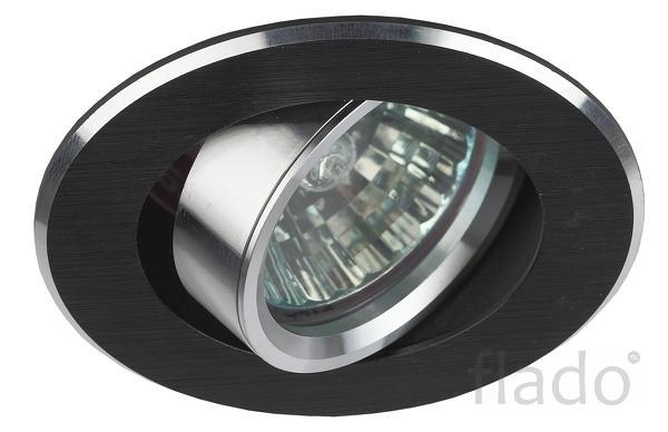 KL58А SL/BK Светильник ЭРА литой поворотный «алюминевый » MR16.12V/220