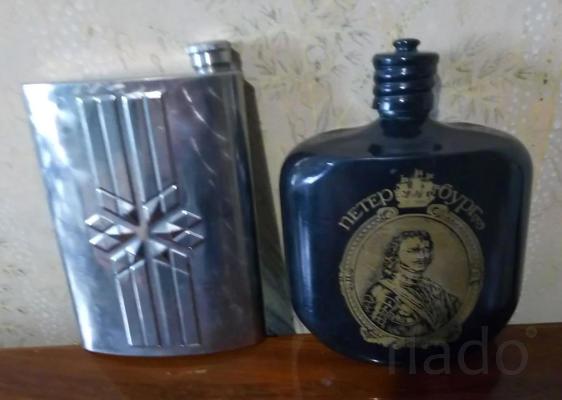 Фляжка для алкоголя из нержавеющей стали
