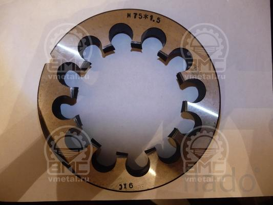 Плашка М72х2, М72х1,5, М75х1,5, М75х1,5 с левой резьбой