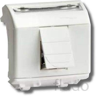 Розетка rj-45 brava 2 модуля белая (76450b) розетка компьютерная с дву