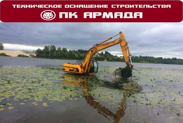 Дноуглубление, очистка дна водоема Уфа, Башкортостан