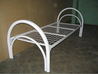 Металлические кровати с деревянными спинками для турбазы, общежития