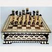 Комплект резных шахмат в резном ларце 30 х 30 х 10 см.