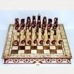 Резной шахматный набор Крестоносцы в резной доске 30 х 30 см.