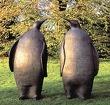 """скульптурная композиция из металла""""Пингвины"""""""