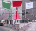 Переносной рекламный парковочный барьер, стойка.