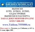 Выписки ЕГРП, кадастровые паспорта в Талдоме