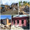 Демонтаж, снос домов и строений.