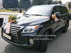 Черный автомобиль на свадьбу Лексус ЛХ 570
