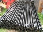столбы металлические собственного производства. Готовые к установке