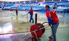 Заливка катка во дворе, на стадионах, в ледовых комплексах.