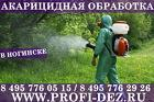 Обработка участка от клещей комаров в Ногинске СЭС ПРОФИ-ДЕЗ