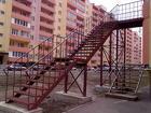 Наружные лестницы с металлическими площадками