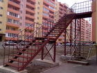 Двухмаршевая лестница с поворотом на 90 градусов