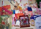 Пакеты подарочные  разных цветов и размеров 25 штук