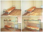 Кровати, столы,  табуретки, тумба, шкаф .