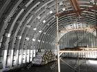 Производство, строительство бескаркасных ангаров арочных