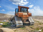 Caterpillar D6 (CAT D6) болотный бульдозер толкач