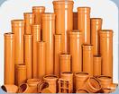 Труба НПВХ 110 рыжая для канализации