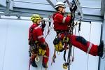 Промышленные альпинисты. Рязань Баннер На Высоте Растяжки монтаж кровл